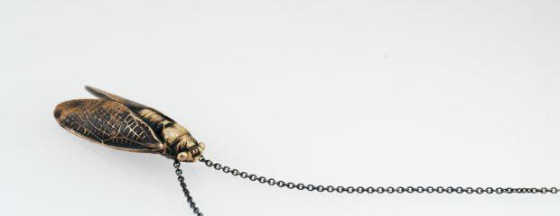 Zikade Bronze Abformung